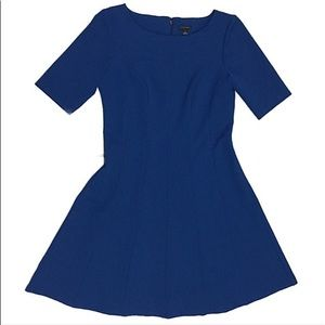 NWOT Ann Taylor Blue Ribbed Knee Length Dress